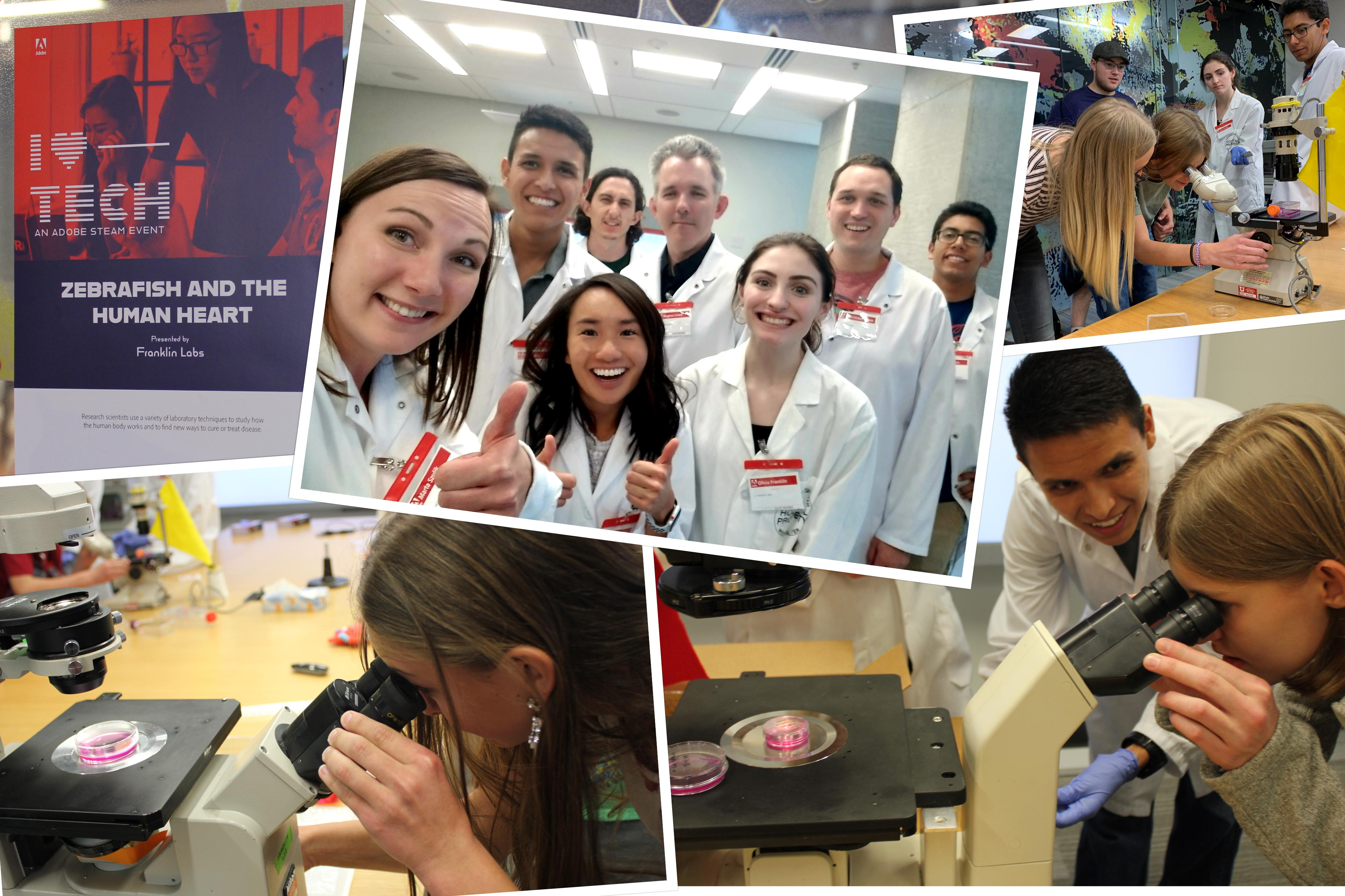 """Franklin Lab recently participated in Adobe's annual """"I Heart Tech"""" event focused on STEAM education"""